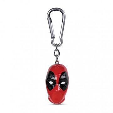 Deadpool Head 3D Atslēgu Piekariņš (Jauns)