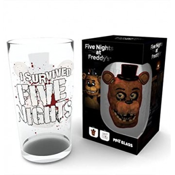 Five Nights At Freddys Fazbear Pint Glāze 470ml (Jauna)