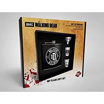 Blašķes Komplekts ar Piltuvi un 2 Glāzēm The Walking Dead Walker Hunter (Jauna)