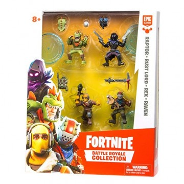 Fortnite Battle Royale Mini Action Figures Squad Pack W1 Raptor Rust Lord Rex Raven (Jauna)