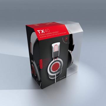 Gioteck TX40 Stereo Gaming Austiņas ar Vadu (Jaunas)