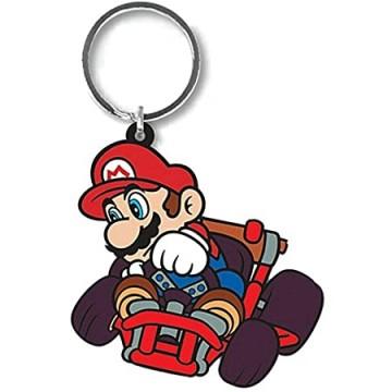 Mario Kart (Mario Drift) Gumijas Atslēgu Piekariņš (Jauns)