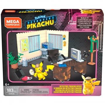 Mega Construx Detektīva Pikachu Ofiss Konstruktors (Jauns)