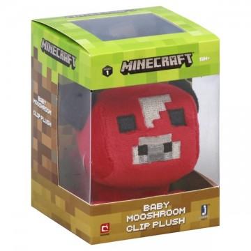 Minecraft Sarkana Mooshroom Mini Mīkstā Rotaļlieta (Jauna)