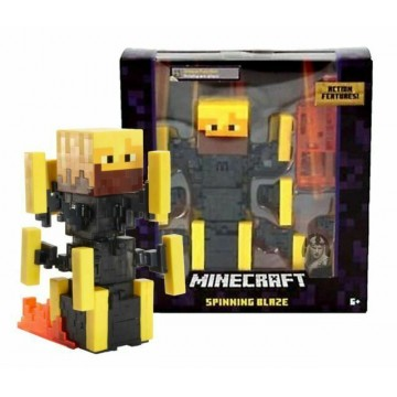 Minecraft Survival Mode Spinning Blaze Action Figūra 14.5cm (Jauna)