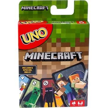 Minecraft UNO Spēļu Kārtis (Jauna)