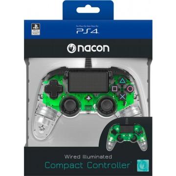 Oficiāli Licencēta Nacon PlayStation 4 LED Pults Controller ar Vadu Caurspīdīgi Zaļa (Jauna)