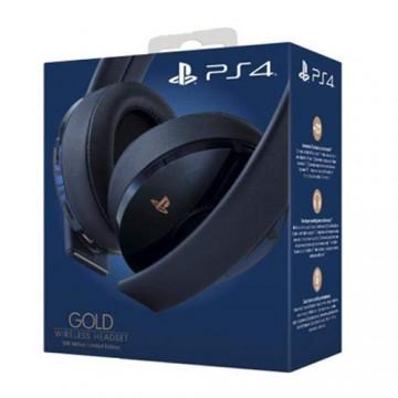 Oficiālās Sony PlayStation 4 Gold 500 Million Edition Bezvadu Austiņas (Jaunas/Viegli Bojāts Iepakojums)
