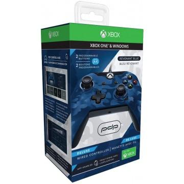 PDP Oficiāli Licencēts Xbox One un Windows 10 Pults ar Vadu Camo Zila (Jauna)