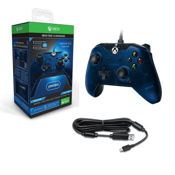 PDP Oficiāli Licencēts Xbox One un Windows 10 Pults ar Vadu Zila (Jauna)
