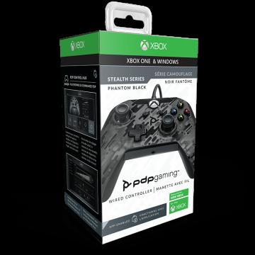 PDP Oficiāli Licencēts Xbox One un Windows 10 Pults ar Vadu Phantom Black (Jauna)