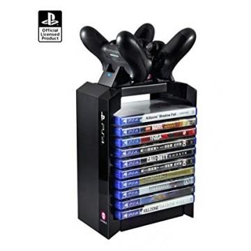 Oficiālais Sony PlayStation 4 Pulšu Lādētājs un Spēļu Turētājs (Jauns)