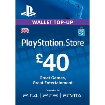 PlayStation Network Live 40 Mārciņu Karte Anglija
