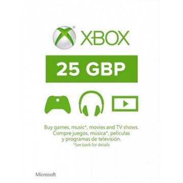 Microsoft 25 Mārciņu UK Karte