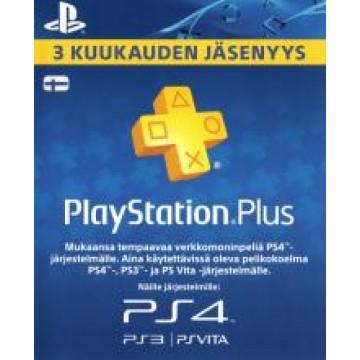 PlayStation Pluss 3 Mēnešu Abonamenta Karte Somija