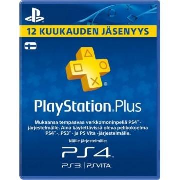 PlayStation Pluss 12 Mēnešu Abonamenta Karte Somija