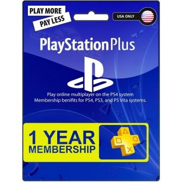 PlayStation Pluss 12 Mēnešu Abonamenta Karte ASV