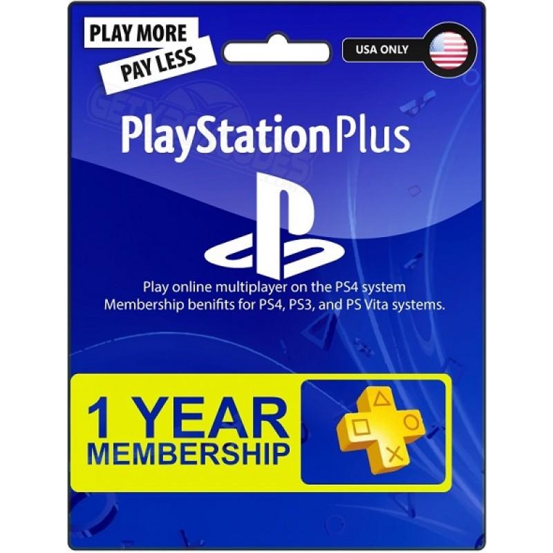 Playstation Karte.Playstation Pluss 12 Mēnešu Abonamenta Karte Asv