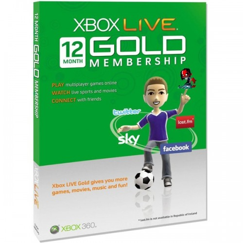 Xbox Live 12 Mēnešu GOLD VISPASAULES Karte
