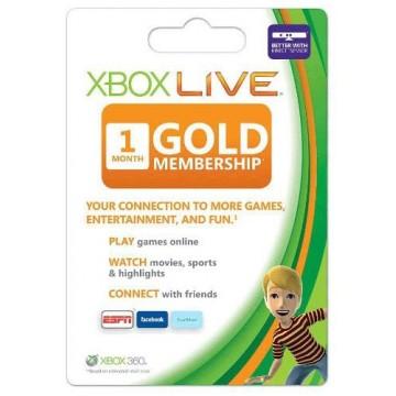 Xbox Live 1 Mēneša GOLD VISPASAULES Karte