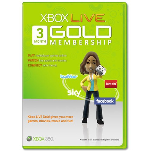 Xbox Live 3 Mēnešu GOLD VISPASAULES Karte