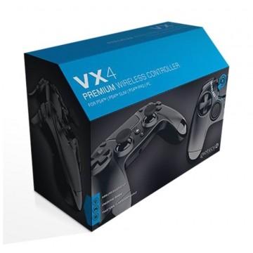 PlayStation 4 Gioteck VX4 Bez Vadu Pults Melna PS4/PC (Jauna)