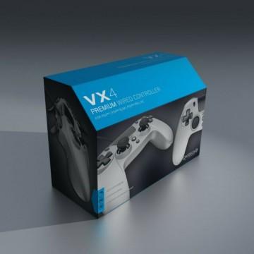 PlayStation 4 Gioteck VX4 Pults Ar Vadu Sudraba PS4 (Jauna)
