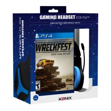 PlayStation 4 Konix Austiņas ar vadu PS-400 un Wreckfest Video Spēli (Jaunas)