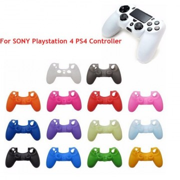 PlayStation 4 Pults Mīkstais Silikona Aizsargapvalks ar Rievotu Rokturi Dažādas Krāsas (Jauns)