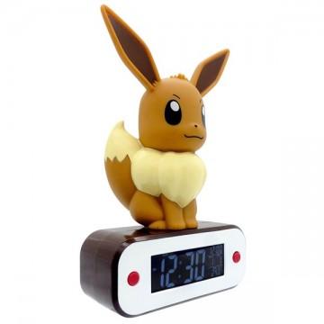 Pokemon Eevee LED Lampa ar Digitālu Modinātāja Pulksteni (Jauna)