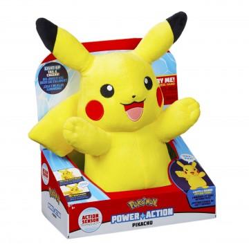 Pokemon Power Action Pikachu Mīkstā Rotaļlieta ar Skaņu (Jauna)