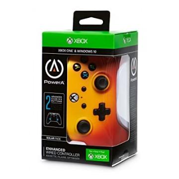 Power A Enhanced Oficiāli Licencēts Xbox One un Windows 10 Pults ar Vadu Solar Fade (Jauna)