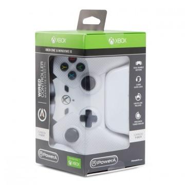 Power A Oficiāli Licencēta Xbox One un Windows 10 Pults ar Vadu Balta (Jauna)