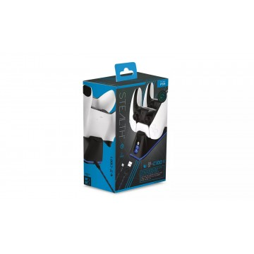 Stealth SP-C100 V PlayStation 5 Dubultais USB Lādēšanas Doks un Lādēšanas Vads Melns (Jauns)
