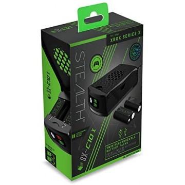 Stealth SX-C10 X Xbox Series/Xbox One Dubultais Lādēšanas Komplekts un 2 Baterijas (Jauns)