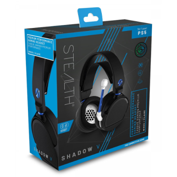 PlayStation 5 Stealth Shadow V Stereo Austiņas ar Vadu Melnas (Jaunas)