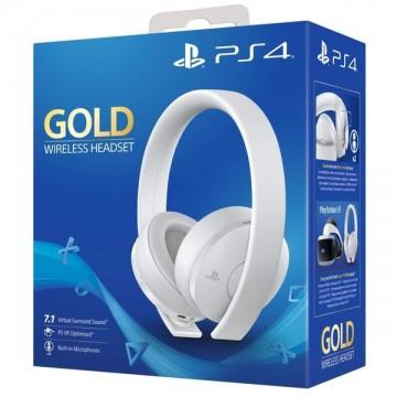 Oficiālās Sony PlayStation 4 Gold Bezvadu Austiņas Baltas (Jaunas)
