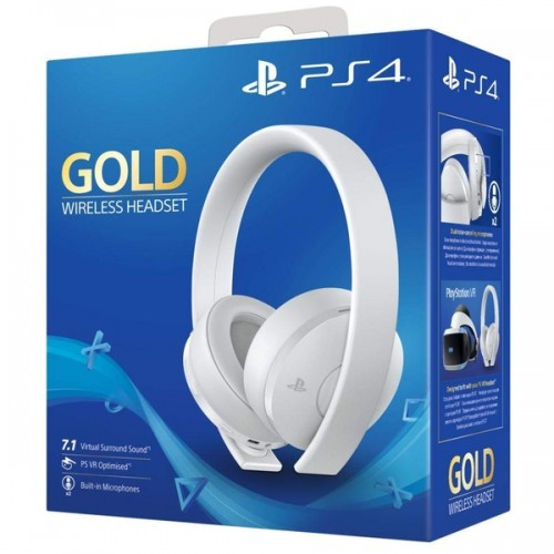 Sony PlayStation 4 Gold Bezvadu Austiņas Baltas (Jaunas)