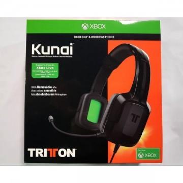 Tritton Kunai 3.5mm Stereo Austiņas Ar Vadu Melnas Xbox One (Jaunas)