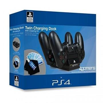 Sony Oficiāli Licencēts 4Gamers Dvīņu Kontrolieru Lādēšanas Doks Melns (Jauns)