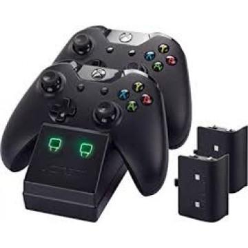 Xbox One Venom Dubultais Lādēšanas Doks un 2 Baterijas Melns (Jauns)