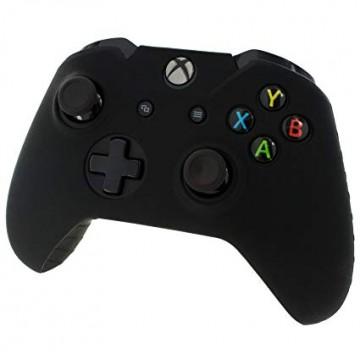 Xbox One Pults Mīkstais Silikona Aizsargapvalks ar Rievotu Rokturi Melns (Jauns)