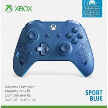 Xbox One S Bezvadu Pults Sport Blue ar Gumijas Rokturu Pārklājumu (Jauna)