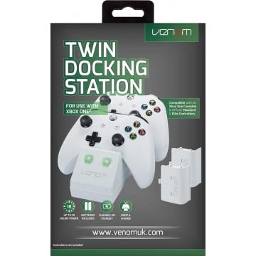 Xbox One Venom Dubultais Lādēšanas Doks un 2 Baterijas Balts (Jauns)