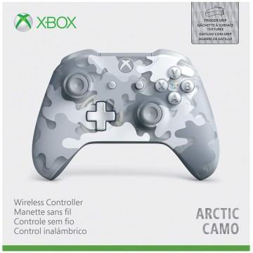 Xbox One S Bezvadu Pults Arctic Camo ar Rievotām RT un LT Pogām (Jauna)