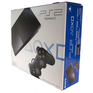 PlayStation 2 SLIM Konsole ar Oriģinālo Kasti (Lietota)