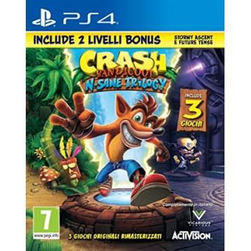 Crash Bandicoot N.Sane Trilogy Ar 2 Bonusa Līmeņiem (Jauna)