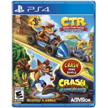 Crash Team Racing Nitro Fueled un Crash Bandicoot N. Sane Trilogy Dubult Paka (Jauna)