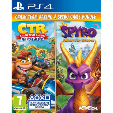 Crash Team Racing Nitro Fueled un Spyro Reignited Trilogy Dubult Paka (Jauna)