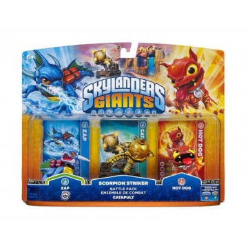 Skylanders Giants 3Paka - Zap/Catapult/Hot Dog (Lietota)